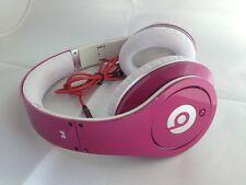 Used Original Monster Beats by Dr Dre STUDIO Earphones Headphones PINK Genuine