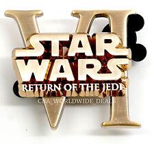 NEW Disney D23 Expo Star Wars Episode VI Return of the Jedi Gold Pin LE 500