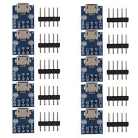 10pcs Micro USB Turn Dip Interface Seat 5V Power Supply Converter Board Q2Q4
