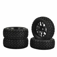 4pcs RC Car Rubber Tires Wheels for 1:10 1:16 Traxxas Tamiya HSP HPI Kyosho RC