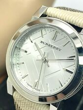 Burberry Women's BU9212 Check Nova Check Leather Strap Swiss Watch Petite 26.5mm