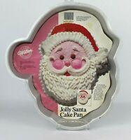 Wilton Jolly Santa Face Cake Pan 1987 with Instructions 2105-1225 Christmas