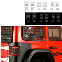 Metal Rear Tail Light Lamp Cover Trim Fit For AXIAL SCX10 III JEEP RC Model Car
