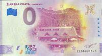 BILLET 0  EURO ZIARSKA CHATA  SLOVAQUIE   2020 NUMERO DIVERS