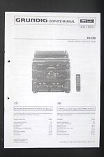 Grundig CC 660 ORIGINALE Stéréo système manuel de service/AMPLIFICATEUR/diagram
