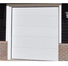 "**SECTIONAL GARAGE DOOR l M-RIB WHITE WOODGRAIN 7'0""W 7'0""H & 7'6""W 7'0""H** 6'6"""