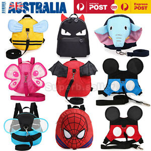 Children's Walking Harness Buddy Backpack Kids/Toddler Safety Leash Tether Strap