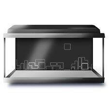 Fish Tank Background 90x45cm BW - Retro Arcade Game Blocks Fun  #39564