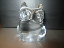Orrefors paper wieght crystal Owl