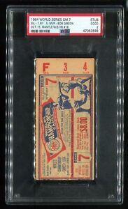 PSA Ticket Baseball New York Yankees 1964 World Series GM 7 Mickey Mantle HR