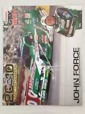 John Force Autographed 8x10 Castrol Ford Mustang 2010 Funny Car Champ Photo Card