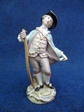 Meissen Statue Gardner holding a Stick 19th century soft tones nice quality 1860