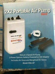Engel Coolers ENG-AP Portable Live Bait 2 Speed Aerator Pump Kit & 12V Adapter