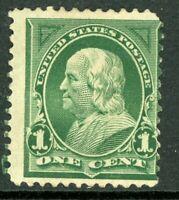 USA 1897 Frankling 1¢ Green Scott 279 Fine Mint Hinged B380