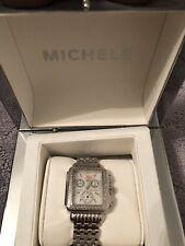 MICHELE Diamond Chronograph Wrist Watch for Women