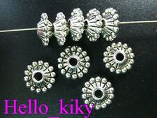 60 pcs Tibetan silver beaded bicone spacer beads A641