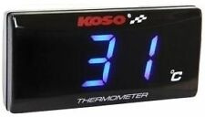 Koso Ultra Slim LCD Temperature Gauge BLUE - 3043