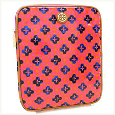 Tory Burch iPad case Pink Beige Woman Authentic Used Y3146