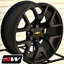 "2014 GMC Sierra Wheels Rims 22x9"" Satin Black 22"" inch fit Chevy Silverado Tahoe"