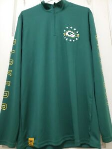 Green Bay Packers NFL TEAM APPAREL LONG SLEEVE Green Size(L) PULLOVER NWT