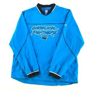 NWT Reebok NFL Carolina Panthers Medium V Neck Pullover Kick Off Hot Jacket