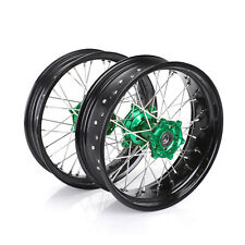For Kawasaki KX250F KX450F 06-18 17*3.5 17*4.25 MX Wheels Complete Set Hub Rims