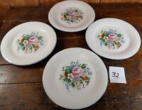 Set of 4 Dinner Plates Victorian Rose Tabletops Unlimited Dinnerware China 10.5""