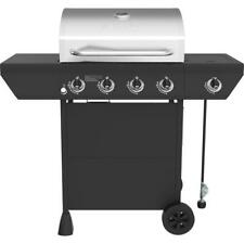 PROPANE GAS BBQ GRILL Nexgrill 4-Burner Stainless Steel Main Lid w/ Side Burner