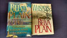 BLEVA PLAIN, lot of 2 Hardcover books, Whispers & 3 Three Complete Novels in One
