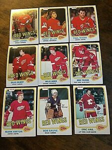 1981-82 O-Pee-Chee  DETROIT RED WINGS  17 card team set