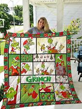 Grinch christmas quilt blanket, grinch quilt blanket