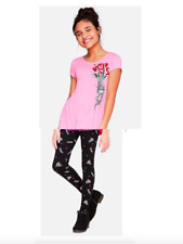 *NEW* JUSTICE GIRLS 8 10 12 OTTERLY THE BEST VALENTINES SWING TOP N LEGGINGS