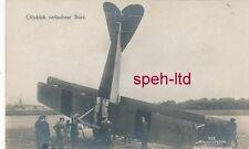 Originale Sanke Karte /  Flugzeug, ..Glücklich verlaufener Sturz