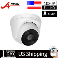 ANRAN WiFi IP 1080P HD 2way Audio Wireless CCTV Security Dome Camera Outdoor IR