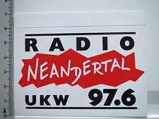 Aufkleber Sticker Radio Neandertal - UKW (5694)