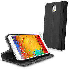 BoxWave Genuine Leather Gray Vintage Book Galaxy Note 3 Wallet Case