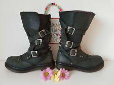 UK 5 EU 38 US 7 JARA  grey buckles dr Martens high boots