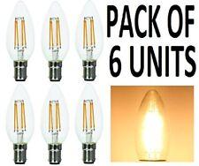 Supacell LED Filament Candle Bulbs - PACK OF 6 - B15  SBC  Small Bayonet Cap -
