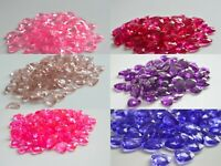 Pink And Purple Heart Scatter Crystals Table Decoration Wedding Confetti 12mm