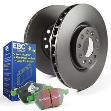 Ebc arrière disques de frein et greenstuff plaquettes kit pour ford fiesta Mk6 1.6T ST180