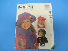 Vintage Sewing Pattern McCall's 9497 Fashion Accessories Kid's Hats Scarfs, S700