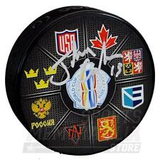Johnny Gaudreau Calgary Flames Signed Autographed 2016 World Cup of Hockey Puck