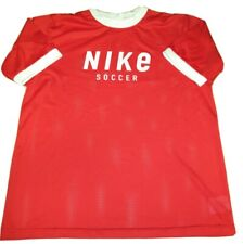 Vintage 90s Nike Spell Out Soccer Men's Xl Shirt Jersey Polyester Mesh Red