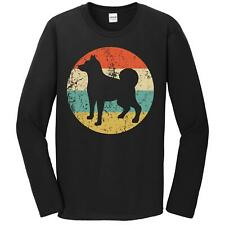 Norwegian Elkhound Shirt - Retro Dog Breed Icon Long Sleeve T-Shirt