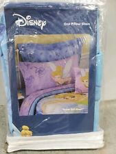 "New Disney ""Tinkerbell Magic"" Pillow Sham Blue"