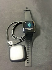 Fitbit Versa Smartwatch Black Small Band Great Condition