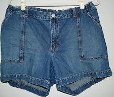 GAP Maternity Denim Jean Shorts 100% Cotton - No Band, Adjustable Waist Size 12