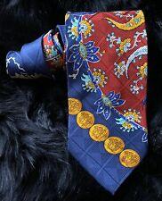 Vintage Original Gianni Versace Hand Made Italy Mens 100% Silk Neck Tie 58.75