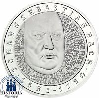 BRD 10 DM Johann Sebastian Bach 2000 Silber Stempelglanz Münze in Münzkapsel
