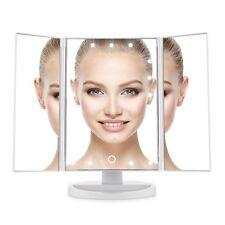 Easehold Tri-Fold 21 LED Illuminated Makeup Cosmetic Beauty Vanity Mirror & USB